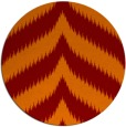 rug #238949 | round orange graphic rug