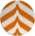 rug #238953 | round orange stripes rug