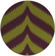 rug #238989 | round green graphic rug