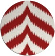 rug #239009 | round red stripes rug