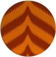 rug #239017 | round red-orange stripes rug