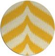 rug #239049 | round yellow graphic rug