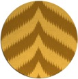 rug #239065 | round yellow graphic rug