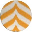 rug #239109 | round light-orange stripes rug
