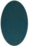 rug #241637 | oval blue-green natural rug