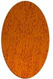 rug #241765 | oval orange rug
