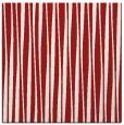 rug #243233 | square red stripes rug