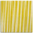 rug #243285 | square yellow stripes rug