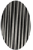 rug #243341   oval white stripes rug