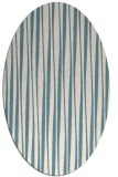 rug #243361 | oval white stripes rug