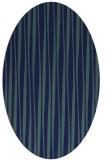 rug #243369 | oval blue rug