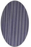 rug #243425   oval blue-violet stripes rug