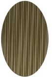 rug #243457 | oval brown stripes rug