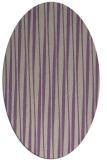 rug #243517 | oval beige stripes rug