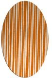 rug #243529 | oval orange stripes rug