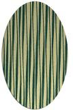 rug #243541 | oval yellow stripes rug