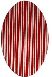rug #243577 | oval red stripes rug