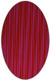 rug #243589 | oval red stripes rug