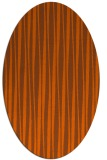 rug #243601 | oval red-orange stripes rug