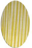 rug #243613 | oval white stripes rug