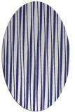 rug #243617 | oval blue rug