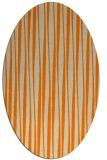 rug #243653 | oval orange stripes rug