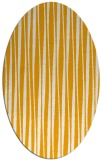 rug #243673 | oval light-orange stripes rug