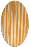 rug #243685 | oval white stripes rug