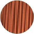 rug #244241 | round red-orange stripes rug