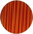 rug #244285 | round orange stripes rug