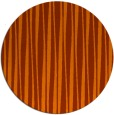 rug #244297 | round red-orange stripes rug
