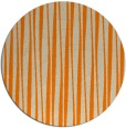 rug #244357   round orange stripes rug