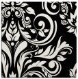 rug #244749 | square black damask rug