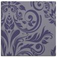 rug #244833 | square blue-violet damask rug