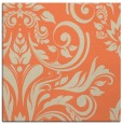 rug #244941 | square orange damask rug