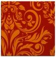 rug #244989 | square orange damask rug
