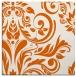 rug #245013 | square red-orange damask rug