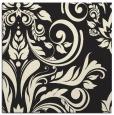 rug #245053 | square black damask rug