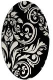 rug #245101 | oval white damask rug