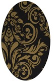rug #245117 | oval brown damask rug