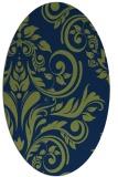 rug #245133   oval blue popular rug