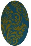 rug #245157   oval green damask rug