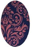 rug #245189 | oval blue-violet popular rug