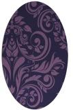 rug #245193   oval purple damask rug