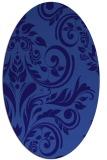 rug #245201   oval blue-violet damask rug