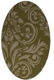 rug #245217   oval brown damask rug