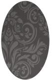 rug #245245 | oval brown rug