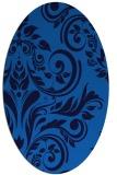 rug #245265 | oval blue damask rug
