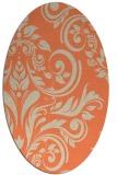 rug #245293   oval orange damask rug