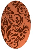 rug #245297 | oval red-orange damask rug